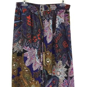 Anthro Vanessa Virginia Petaled Paisley Skirt Sm